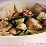 porc au curry et haricot vert