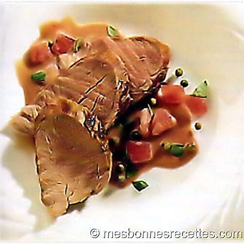 Filet de porc à la fondue de tomates