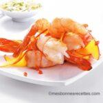 Crevettes Royales à la mangue et sauce curry