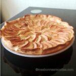 tarte rhubarbes pommes