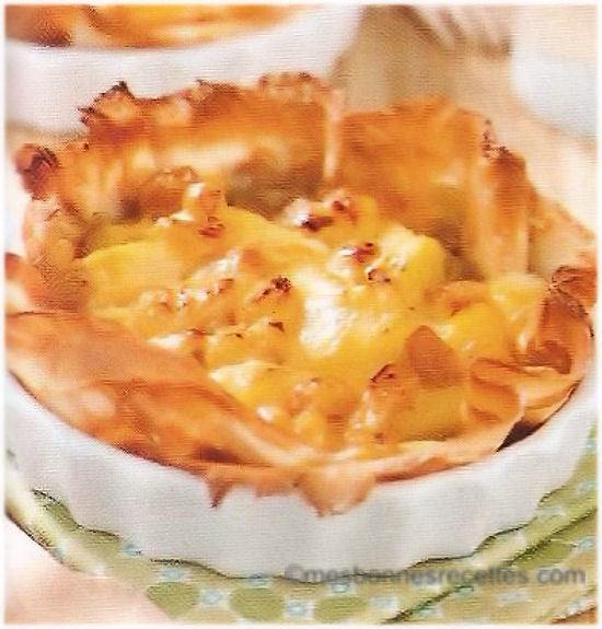 tarte crepe aux pommes