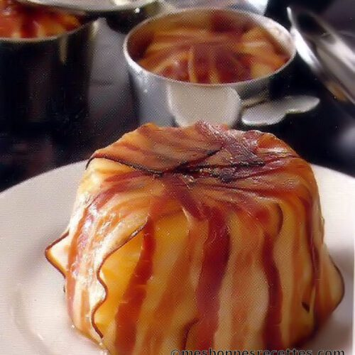 Gâteau de pomme de terre au lard et thym