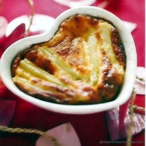 Flans d'asperges au parmesan