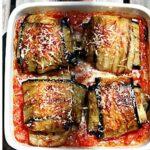 Pannequets d'aubergine et agneau