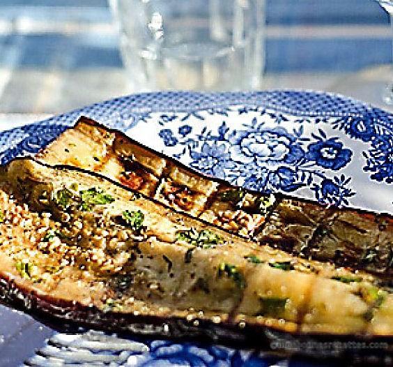 Aubergines marinées et grillées
