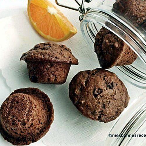 Muffins miniatures à l'orange et au chocolat noir